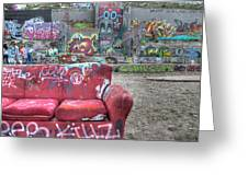 Grafitti Couch Greeting Card