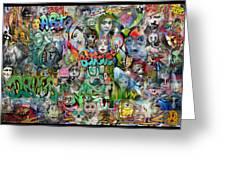 Grafitti Dream Greeting Card