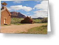Grafton Utah Butch Cassidy Movie Set Panorama Greeting Card