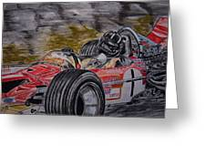 Graham Hill Mr Monaco Greeting Card