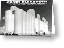 Grain Elevators Sacramento Valley California Greeting Card