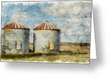 Grain Silos - Digital Paint Greeting Card