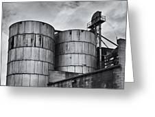 Grain Silos Greeting Card