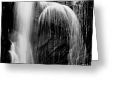 Grampians Waterfall Bw Greeting Card