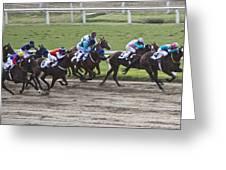 Gran Premio Nacional Horse Racing In Buenos Aries Greeting Card