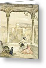 Granada , Plate 9 From Sketches Greeting Card