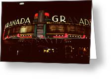 Night Lights Granada Theater Greeting Card