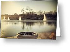 Grand Basin In Forest Park Greeting Card