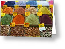 Grand Bazaar Spices In Istanbul Greeting Card
