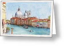 Grand Canal And Santa Maria Della Salute Venice Greeting Card