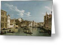 Grand Canal From Palazzo Flangini To Palazzo Bembo Greeting Card