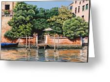 Grand Canal Oasis Greeting Card