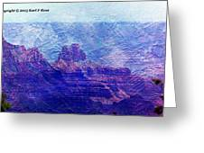Grand Canyon As A Painting 2 Greeting Card