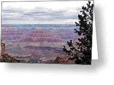 Grand Canyon Awaiting Snowstorm Greeting Card