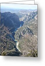 Grand Canyon Du Verdon Overview Greeting Card