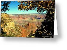 Grand Canyon Framed By Nature Greeting Card