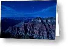 Grand Canyon In Moonlight Greeting Card