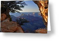 Grand Canyon National Park At Angels Point  Greeting Card