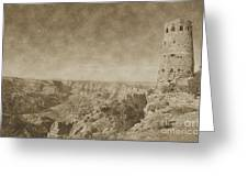 Grand Canyon National Park Mary Colter Designed Desert View Watchtower Vintage Greeting Card