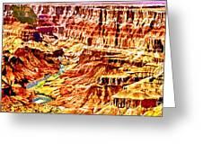 Grand Canyon Navajo Painting Greeting Card