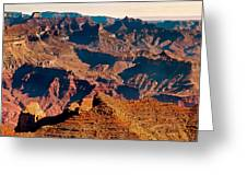Grand Canyon Navajo Point Panorama At Sunrise Greeting Card