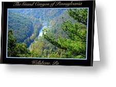 Grand Canyon Of Pennsylvania Wellsboro Greeting Card