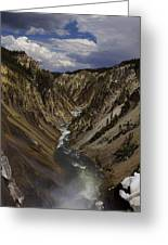 Grand Canyon Of The Yellowstone - 25x63 Greeting Card