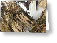 Grand Canyon Of The Yellowstone Greeting Card by Michael Chatt