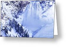 Grand Canyon Of The Yellowstone Yellowstone National Park Wyoming Greeting Card