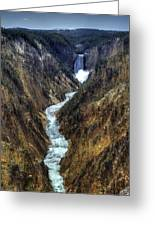 Grand Canyon Of Yellowstone - From Artist Point Greeting Card