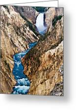 Grand Canyon Of Yellowstone Greeting Card by Bill Gallagher