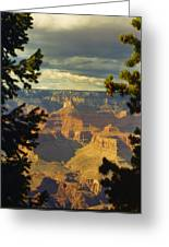Grand Canyon Peek Greeting Card
