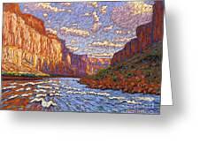 Grand Canyon Riffle Greeting Card