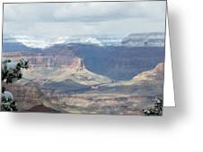 Grand Canyon Shadows And Snow Greeting Card
