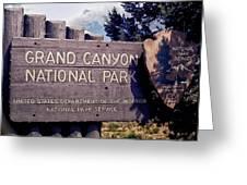 Grand Canyon Signage Greeting Card