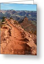Grand Canyon South Kaibab Trail And Oneill Butte Vertical Greeting Card