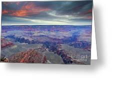 Grand Canyon Storm Set Greeting Card