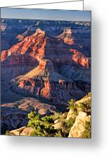 Grand Canyon Sunset Ridge Greeting Card