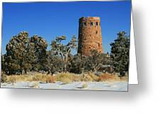 Grand Canyon Watch Tower Greeting Card