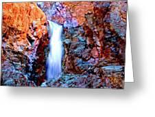 Grand Canyon Waterfall Greeting Card