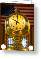 Grand Central Clock Greeting Card