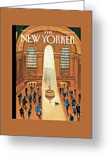 Grand Central Heating Greeting Card by Mark Ulriksen