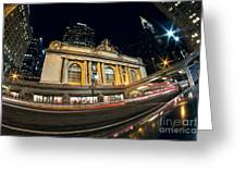 Grand Central Station And Chrysler Building Greeting Card