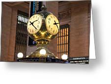 Grand Central Station Clock Greeting Card