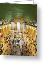 Grand Central Terminal Birds Eye View Greeting Card