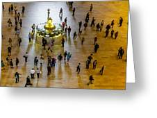 Grand Central Terminal Clock Birds Eye View  Greeting Card