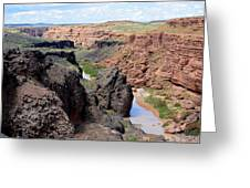 Grand Falls Viewpoint Greeting Card by Carrie Putz
