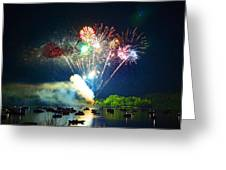Grand Finale Over The Lake Greeting Card
