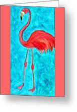 Grand Flamingo Greeting Card