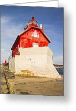 Grand Haven Pier Lighthouse Greeting Card